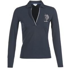 material Women long-sleeved polo shirts U.S Polo Assn. CRISTINE MARINE