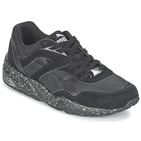 Shoes Men Low top trainers Puma R698 SPECKLE V2 Black / Silver