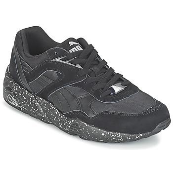 Shoes Men Low top trainers Puma R698 SPECKLE V2 Black / Silver