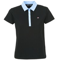 material Women short-sleeved polo shirts Casual Attitude EPIDOL Black