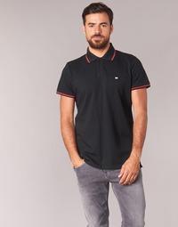 material Men short-sleeved polo shirts Casual Attitude EPIDIN Black