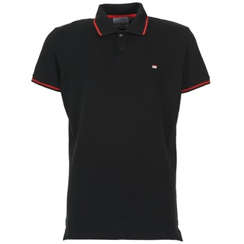 material Men short-sleeved polo shirts Casual Attitude EPIDIN Black