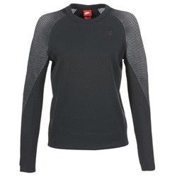 material Women sweaters Nike TECH FLEECE CREW Black
