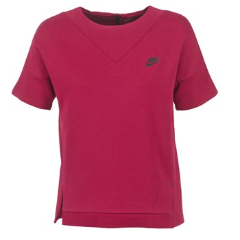 material Women sweaters Nike TECH FLEECE CREW Bordeaux
