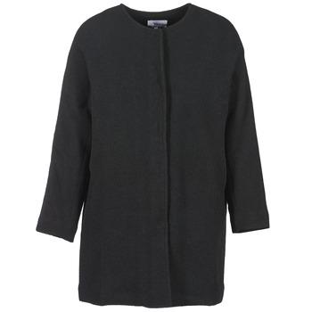 material Women coats Suncoo EMILE Black