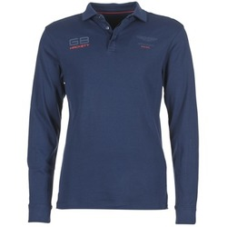 material Men long-sleeved polo shirts Hackett MALAXO Blue
