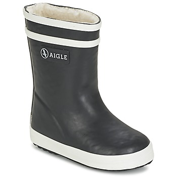 Shoes Children Wellington boots Aigle BABY FLAC FUR Marine