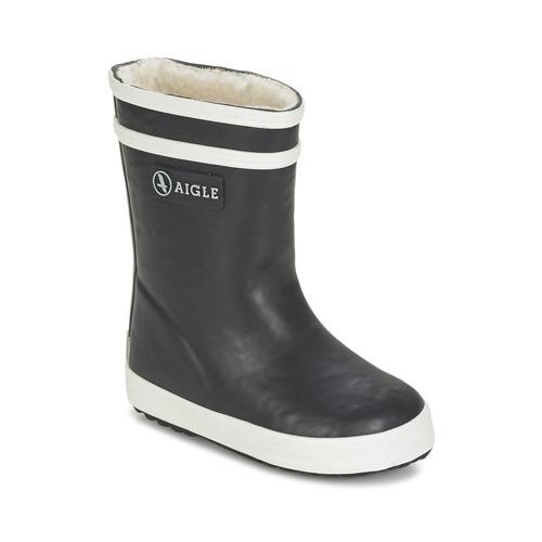 Shoes Children Wellington boots Aigle BABY FLAC FUR Marine