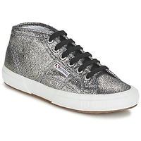 Shoes Women High top trainers Superga 2754 LAMEW Silver