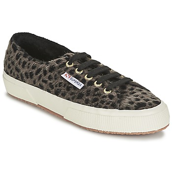 Shoes Women Low top trainers Superga 2750 LEOPARDHORSEW Leopard