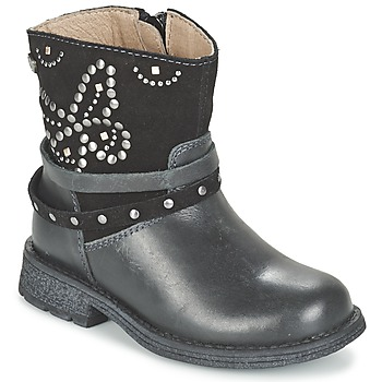 Shoes Girl Mid boots Garvalin GENILA Black