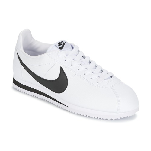 Shoes Men Low top trainers Nike CLASSIC CORTEZ LEATHER White / Black
