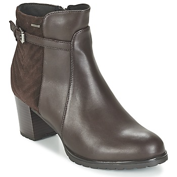 Shoes Women Ankle boots Geox LISE ABX A Brown