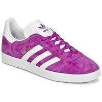 Shoes Women Low top trainers adidas Originals GAZELLE Violet