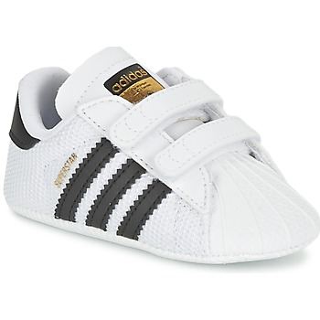 Shoes Children Low top trainers adidas Originals SUPERSTAR CRIB White