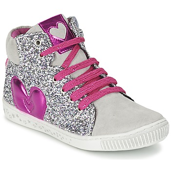 Shoes Girl High top trainers Agatha Ruiz de la Prada BUSOULI Silver