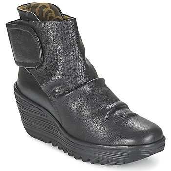 Shoes Women Ankle boots Fly London YEGI Black