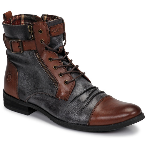 Shoes Men Mid boots Kdopa DUBLIN Grey / Brown