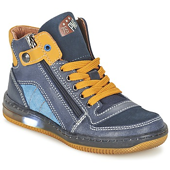 Shoes Boy High top trainers Primigi ADAM-E Blue / Yellow