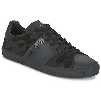 Shoes Men Low top trainers Bikkembergs RUBBER CAMOUFLAGE Black