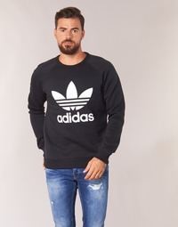 material Men sweatpants adidas Originals TREFOIL CREW Black