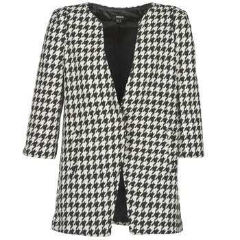 material Women coats Mexx FENCAMP Black / White