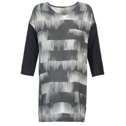 material Women Short Dresses Bench CRISP Black / Grey