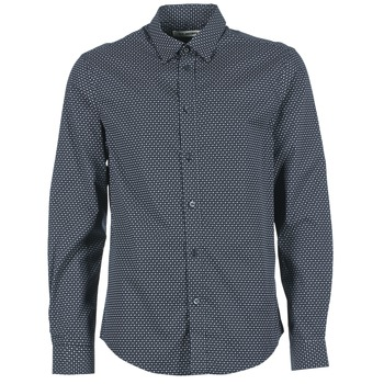 material Men long-sleeved shirts Ben Sherman LS MICRO PAISLEY MARINE