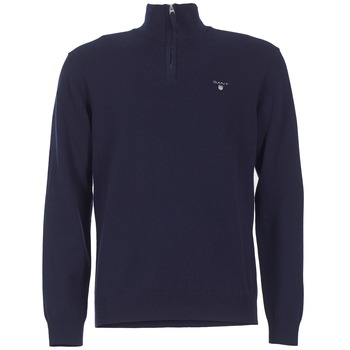material Men jumpers Gant SUPER FINE LAMBSWOOL ZIP Marine