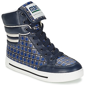 Shoes Women High top trainers Marc by Marc Jacobs CUTE KIDS MINI TOTO PLAID Blue / Multicolour