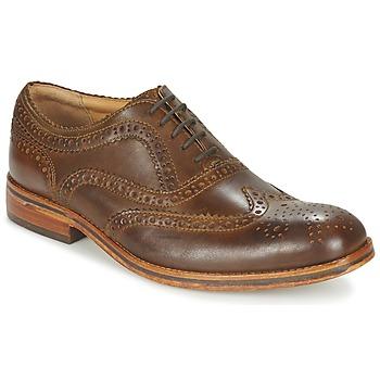 Shoes Men Derby shoes Hudson KEATING CALF Brown
