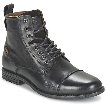 Shoes Men Mid boots Levi's EMERSON LACE UP Black