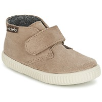 Shoes Children High top trainers Victoria SAFARI SERRAJE VELCRO TAUPE