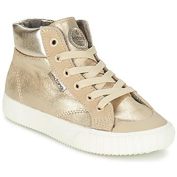 Shoes Girl High top trainers Victoria BOTA METALIZADA PU Gold