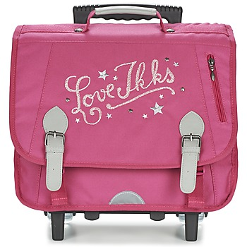 Bags Girl Rucksacks / Trolley bags Ikks LOVE IKKS TROLLEY CARTABLE 38CM Pink