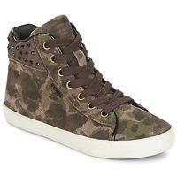 Shoes Girl High top trainers Geox KIWI GIRL Green