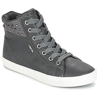 Shoes Girl High top trainers Geox KIWI GIRL Grey