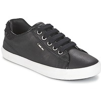 Shoes Girl Low top trainers Geox KIWI GIRL Black