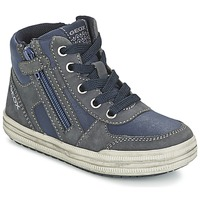 Shoes Boy High top trainers Geox ELVIS Blue / Grey