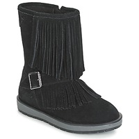 Shoes Girl Mid boots Geox NOHA Black