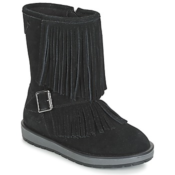 Shoes Girl Boots Geox NOHA Black