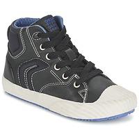 Shoes Boy High top trainers Geox ALONISSO BOY Black / Blue