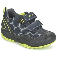 Shoes Boy Low top trainers Geox NEW SAVAGE BOY Blue / Yellow