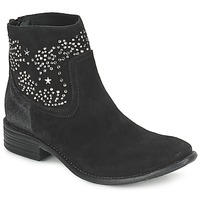 Shoes Women Ankle boots Meline VELOURS STARTER Black