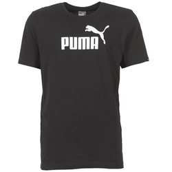material Men short-sleeved t-shirts Puma ESS NO1 LOGO TEE Black