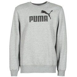 material Men sweatpants Puma ESS CREW SWEAT FL Grey