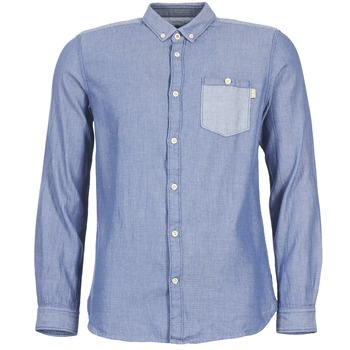 material Men long-sleeved shirts Tom Tailor INIDULLE Blue