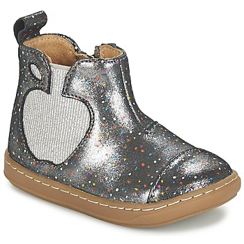Shoes Girl Mid boots Shoo Pom BOUBA APPLE Silver