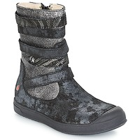 Shoes Girl Boots GBB NOURIA Black / Metallic