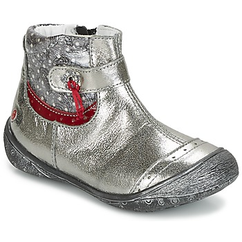 Shoes Girl Mid boots GBB NYMPHE Grey / Printed